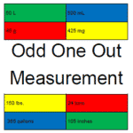 Odd One Out: Customary Measurement