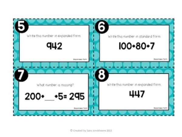 Place value takes a lot of practice and these free task cards are a great way to do just that.  #taskcards #placevalue