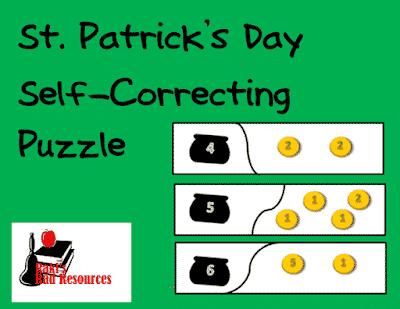 Free St. Patrick's Day Math Puzzle