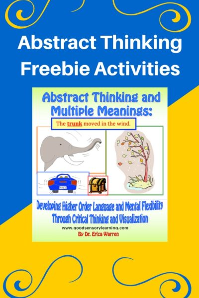 Abstract Thinking Freebie Activities