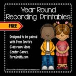 Do You Need Some Year Round Centers Recording Sheet Printables For Student Accountability?