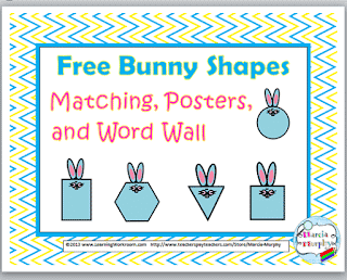 Free Bunny 2D Shapes Math Resource