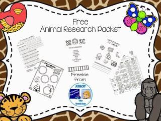 Amazing Elementary Animal Research Freebie