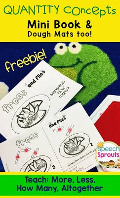 Frogs and Flies: Quantity Concepts Freebie by Speech Sprouts