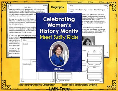 Celebrate Women's History Month with a Biography Packet about Sally Ride