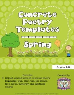 Spring Concrete Poetry Templates