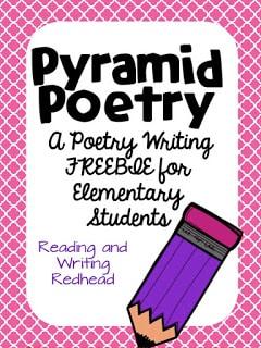 A Pyramid Poetry Freebie
