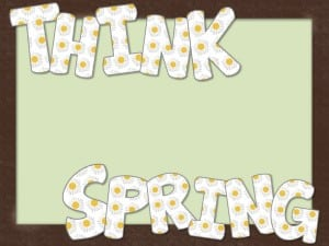 I whipped up some cute bulletin board letters you can print and enjoy for the spring months! You could also use them for word work. Up to you! Enjoy!