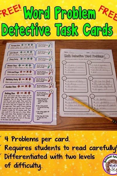 Word Problem Detective Task Cards