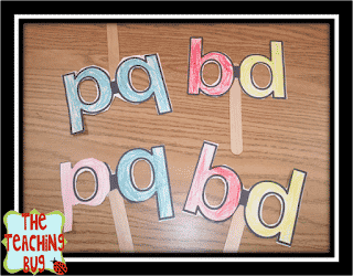Lowercase B and D along with P and Q masks