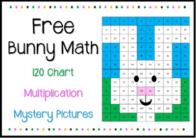 Free Bunny Math – 120 Chart & Multiplication Mystery Pictures