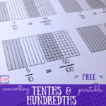 free converting tenths to hundredths printable