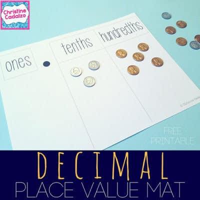 free decimal place value printable