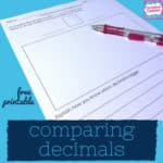 free comparing decimals printable