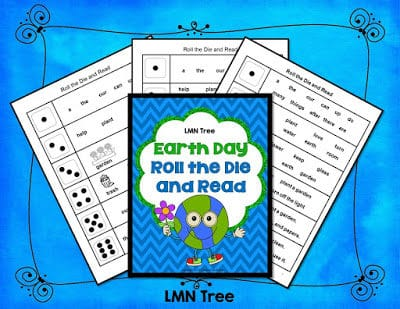 Earth Day: Roll the Dice and Read Activity Packet