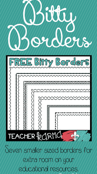 Bitty Borders: FREE Clipart for Teachers