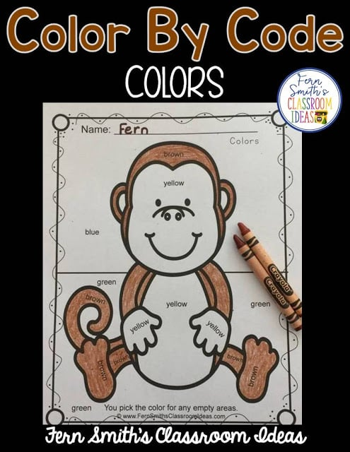 Free Color By Code Know Your Colors, Your students will adore this Awesome Animals Color Your Answers Worksheet for Colors. The answer key is also included, terrific for an Emergency Sub Tub or Homework! Fern Smith's Classroom Ideas