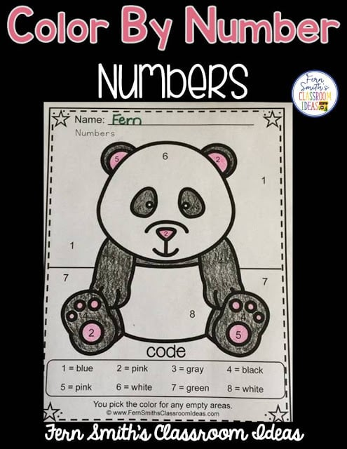 Free Color By Numbers Awesome Animal Know Your Numbers. Your students will adore this Awesome Animals Color Your Answers Worksheet for Numbers. The answer key is also included, terrific for an Emergency Sub Tub or Homework! Fern Smith's Classroom Ideas