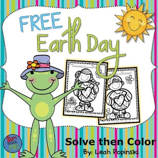 FREE Earth Day Addition and Subtraction Activities