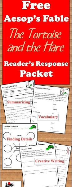 Readers Response Packet for The Tortoise and the Hare