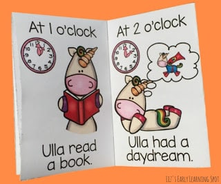 Unicorn Early Reader with Time by the Hour