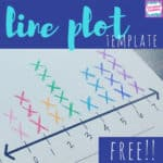 free line plot template