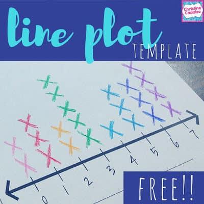 free line plot template