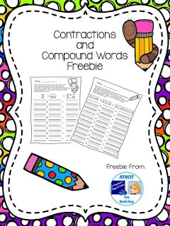 Contractions and Compound Words Freebie
