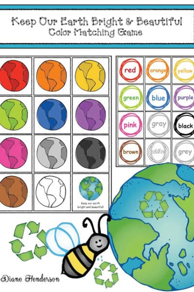 Earth Day Color Matching Game