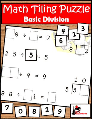 Free division tiling puzzle from Raki's Rad Resources.