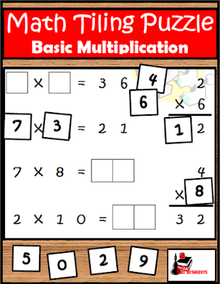 Basic Multiplication Tiling Puzzle