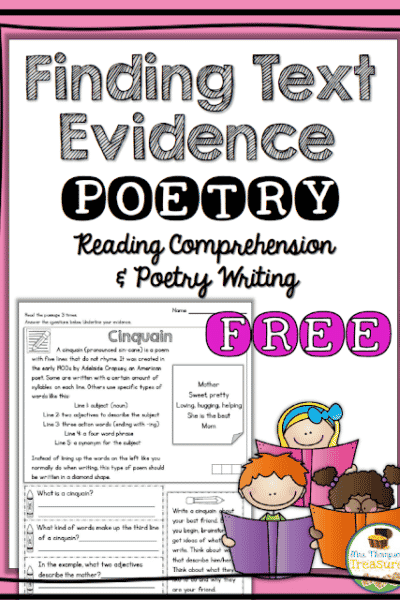 Free Poetry Reading Comprehension & Writing Activity