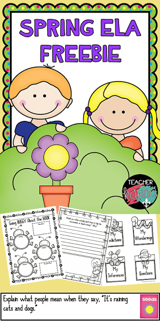 FREE Spring Printables for Reading - Journal Prompts and Writing Paper, Foldables for Interactive Notebook, and Book Report TeacherKarma.com