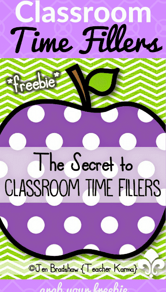 Secret to Classroom Time Fillers