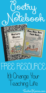 FREE Poetry Notebook Resources