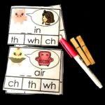 Sea of Knowledge's Free Digraph Write and Wipe Clip Cards