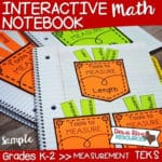 FREE – Interactive Math Notebook Measuring Page!