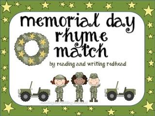 Memorial Day Rhyming Activity