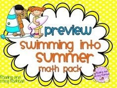 Summer Math Printable
