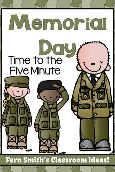 Fern Smith's FREE Memorial Day Time to the Five Minute Math Resource