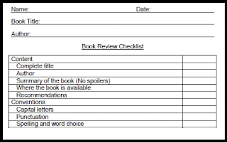 Blogging with Students: Book Review Checklist