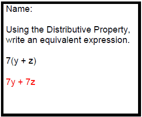 Using Distributive Property to Create Equivalent Expressions