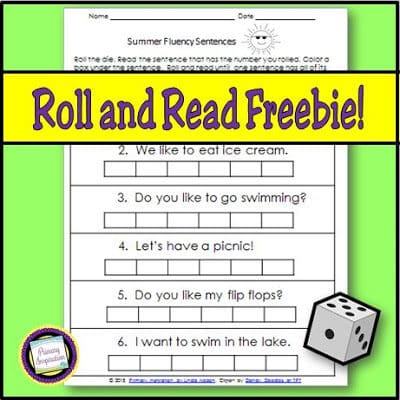 Summer Fluency with Roll and Read Fun