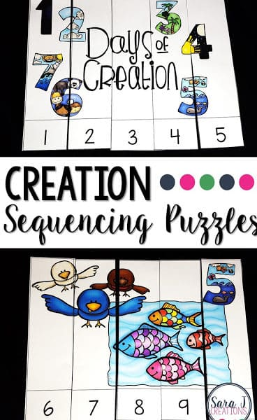 Creation Story Counting Puzzles