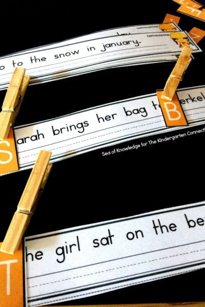 The Kindergarten Connection (Sea of Knowledge)'s Free Sentence Editing Strips