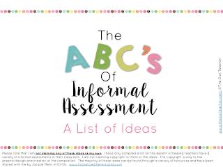 An ABC List of Assessment Ideas!