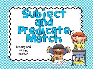 Subject/Predicate Match