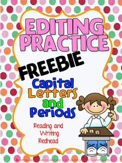 Freebie: Editing Practice from Reading and Writing Redhead