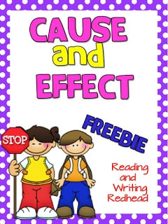 Cause and Effect Printable