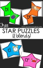 Sea of Knowledge's Free Blends Puzzles Star Themed